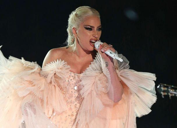 PHOTO: Lady Gaga performs onstage at the 60th annual Grammy Awards at Madison Square Garden on Sunday, Jan. 28, 2018, in New York. (Matt Sayles/Invision/AP)