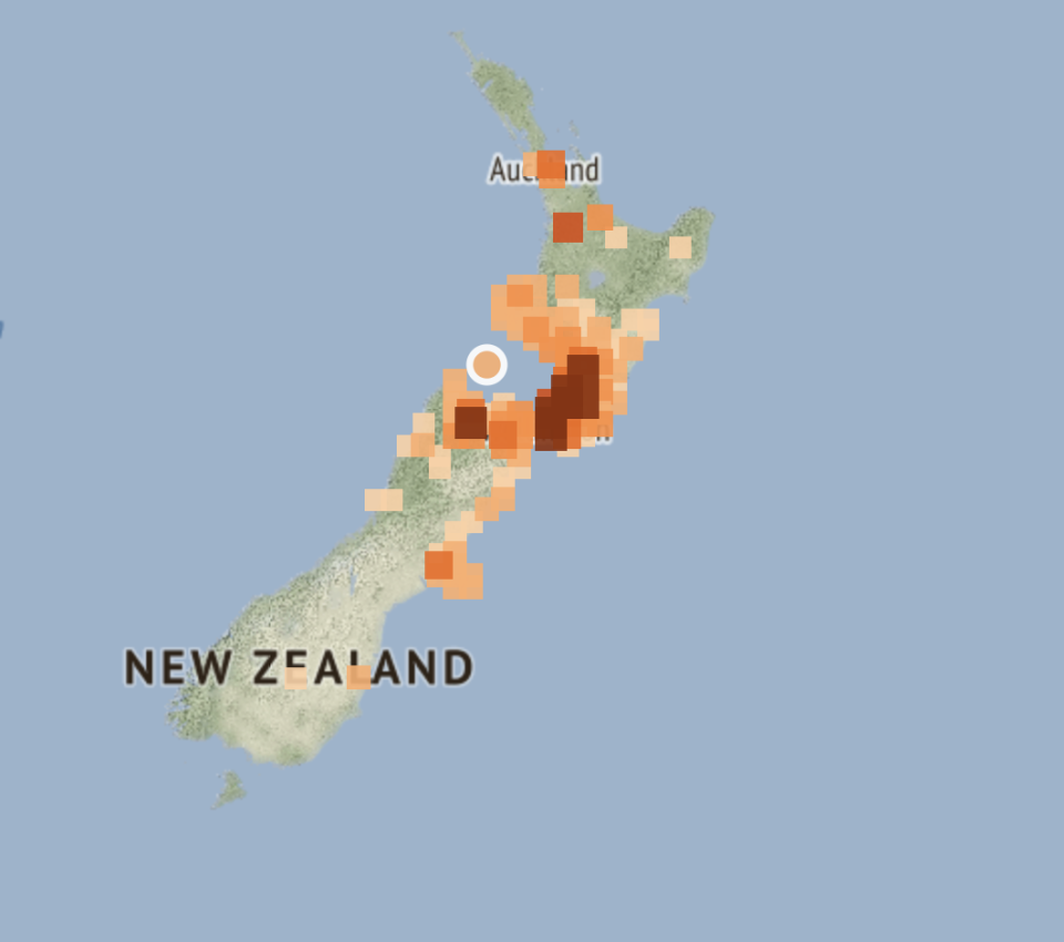 Map of where the earthquake struck between New Zealand's North and South Islands. Source: GeoNet