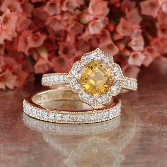 """<i>Buy it from <a href=""""https://www.etsy.com/listing/480170047/bridal-set-vintage-floral-golden-yellow?ga_search_query=vintage&ref=shop_items_search_11"""" target=""""_blank"""">LaMoreDesign on Etsy</a>for$3,433+.</i>"""