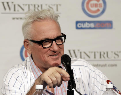 Joe Maddon's arrival has raised expectations for the Cubs. (AP)