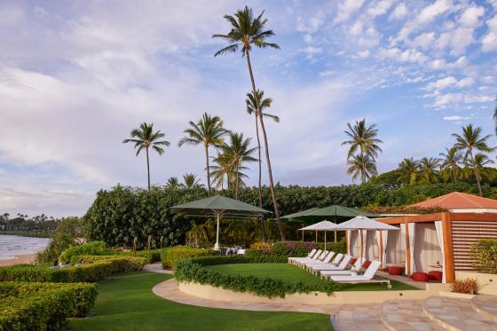 Ocean View Cabanas at the Four Seasons hotel in Maui, Hawaii