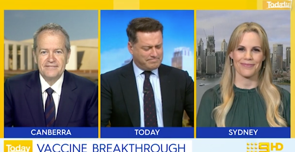 Bill Shorten Karl Stefanovic Today show vaccine covid-19 comment