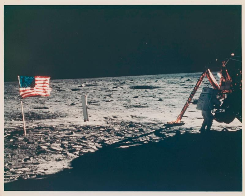 The only photo of Neil Armstrong's moonwalk and the first 'space selfie' are up for sale