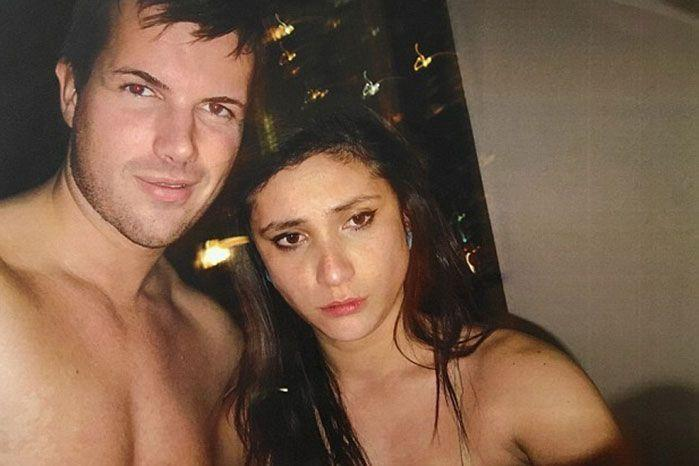 Pictured is Gable Tostee and Warriena Wright the night of her death.
