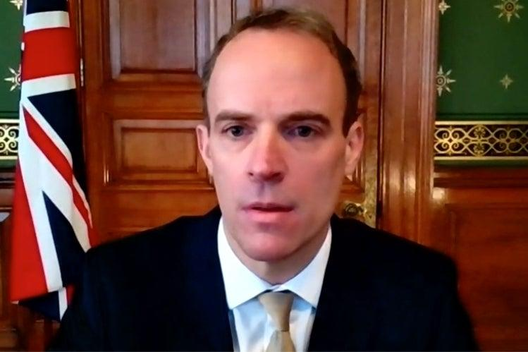 <p>Dominc Raab speaking on the Andrew Marr show on Sunday morning</p> (BBC)