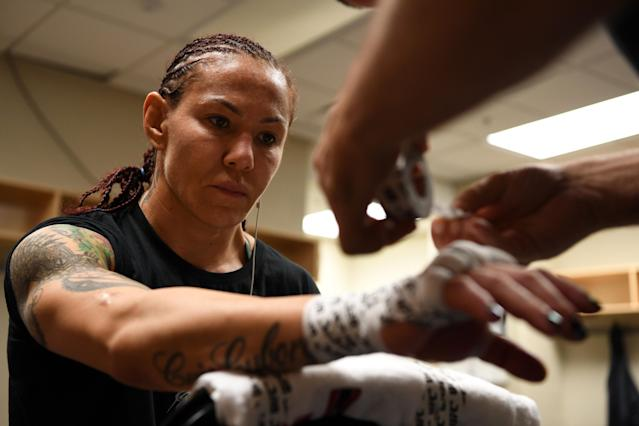 Cris Cyborg's contract with the UFC has come to an end and she has plenty of reasons to not re-sign with the company. (Mike Roach/Zuffa LLC)