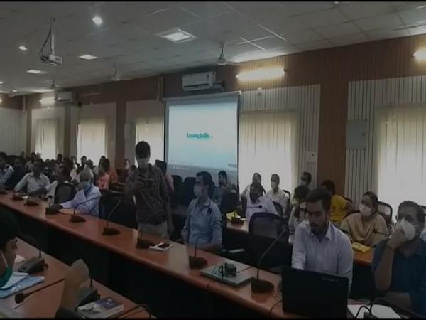 Visuals from West Champaran District Collectorate (Photo/ANI)