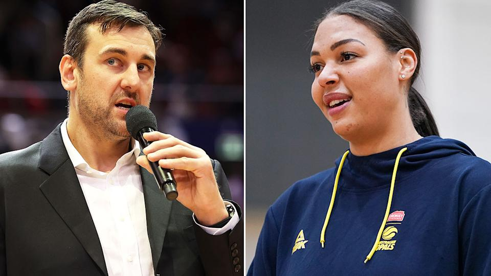 Pictured here, Aussie basketball stars Andrew Bogut and Liz Cambage.