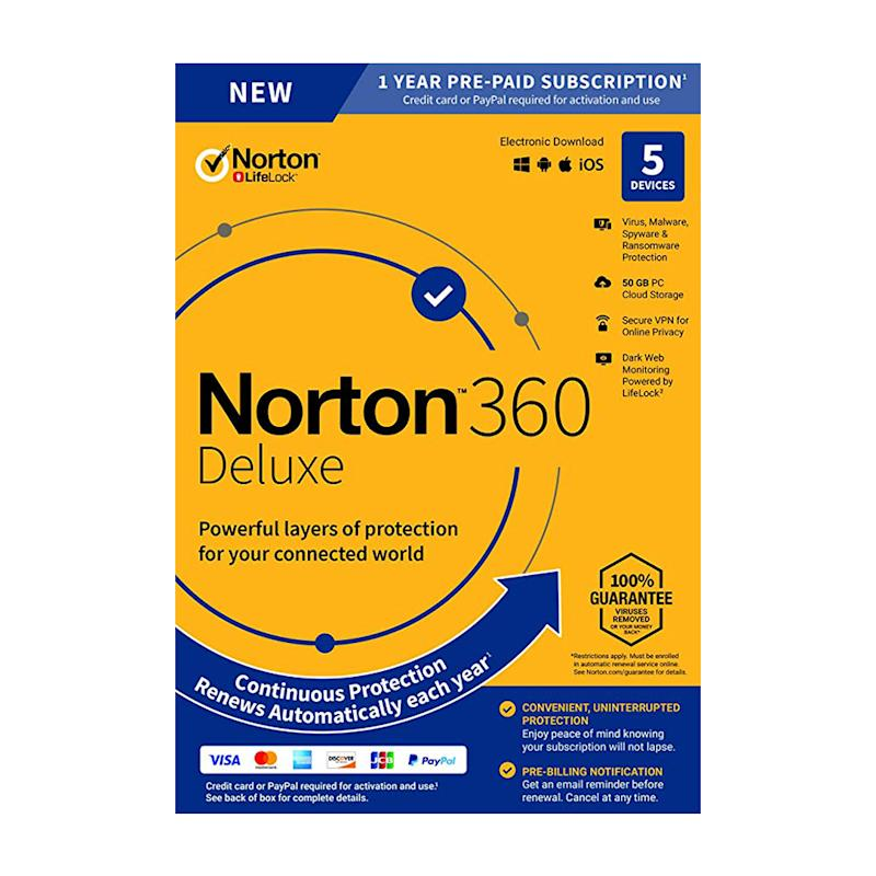 Norton 360 Deluxe Antivirus software. (Photo: Amazon)