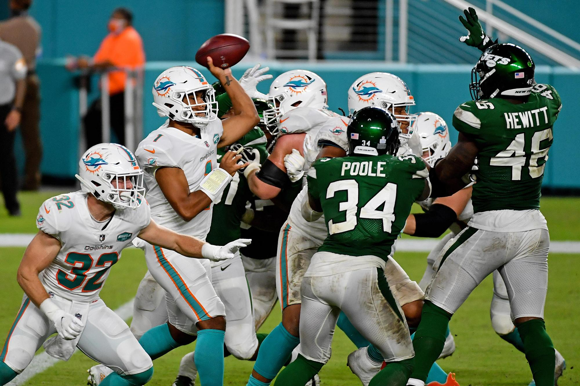 Dolphins, Jets rematch to look plenty different than Week 6