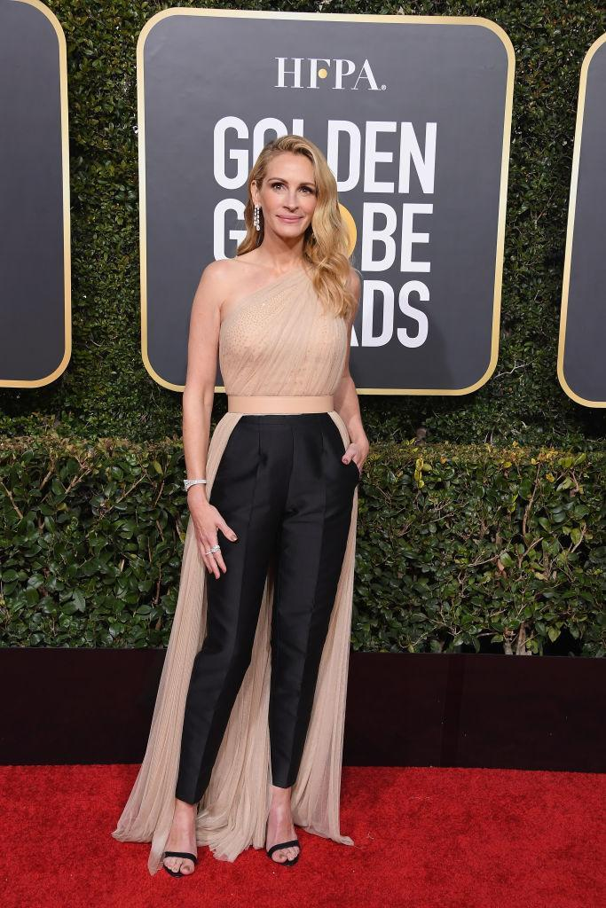 <p>Nominee Julia Roberts (<i>Homecoming</i>) wore pants, but she didn't look any less dressy — or fabulous! She wore her signature red hair in a shade of blond. (Photo: Getty Images) </p>