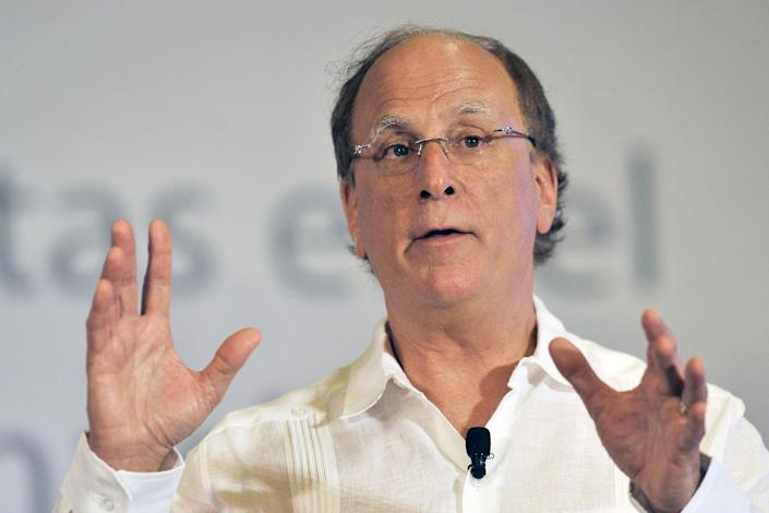 BlackRock CEO Larry Fink. The corporation, which has almost $8tn (£6.2tn) in assets is the world's biggest asset manager. Photo: Pedro Pardo / AFP via Getty Images