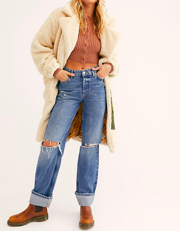 """Even though leaving the house swaddled in a comforter is neither practical nor socially acceptable, this longline teddy from Free People is a good stand-in for one. $168, Free People. <a href=""""https://www.freepeople.com/shop/tessa-teddy-coat/"""" rel=""""nofollow noopener"""" target=""""_blank"""" data-ylk=""""slk:Get it now!"""" class=""""link rapid-noclick-resp"""">Get it now!</a>"""