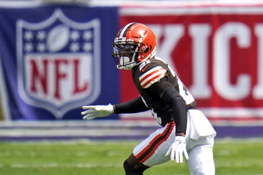 Browns starting CB Ward questionable for Washington game