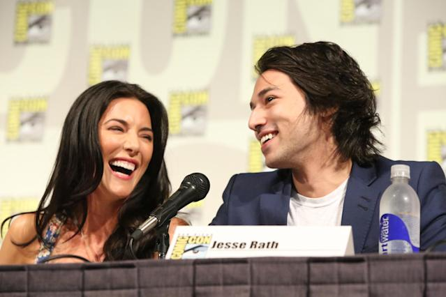 "Jaime Murray and Jesse Rath at the ""Defiance"" Panel in San Diego, CA on Friday, July 19, 2013."