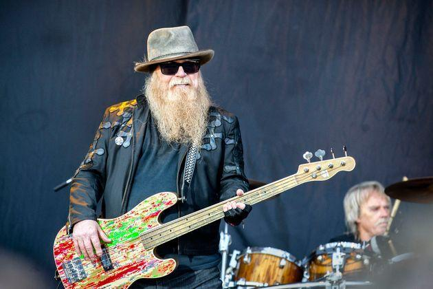 The American rock band ZZ Top performs a live concert during the Swedish music festival Sweden Rock Festival 2019. Here bass player Dusty Hill is seen live on stage. (Photo: PYMCA via Getty Images)