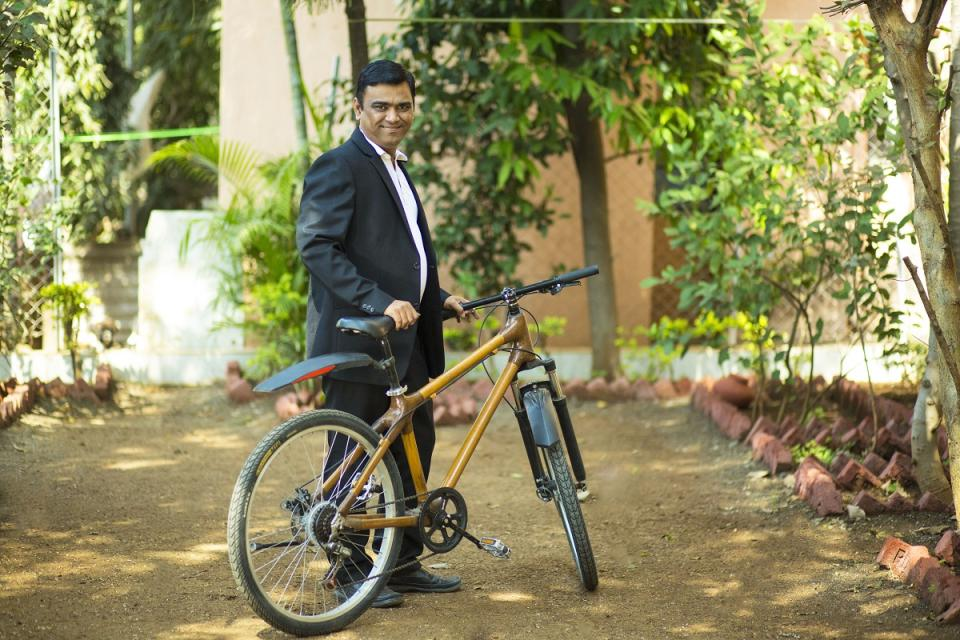 Yogesh Shinde's bamboo bicycle