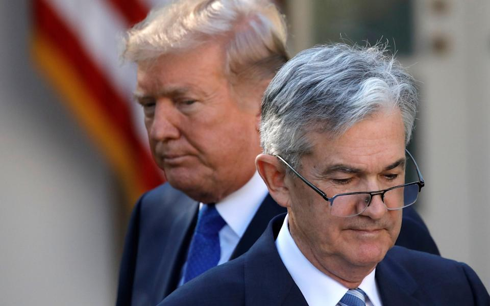 Donald Trump and Jerome Powell in 2017