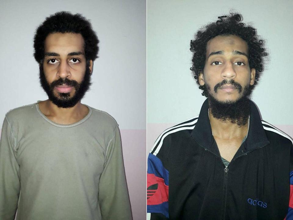 Alexanda Kotey and El Shafee Elsheikh were charged by the US Justice Department on Wednesday for their alleged crimes against American citizens ( )