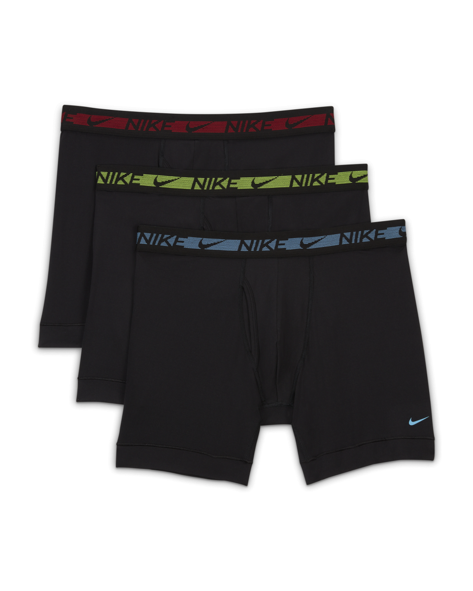 """<p><strong>nike</strong></p><p>nike.com</p><p><a href=""""https://go.redirectingat.com?id=74968X1596630&url=https%3A%2F%2Fwww.nike.com%2Ft%2Fflex-micro-mens-boxer-briefs-3-pack-BHXL2S&sref=https%3A%2F%2Fwww.menshealth.com%2Fstyle%2Fg19546347%2Fthe-best-mens-underwear%2F"""" rel=""""nofollow noopener"""" target=""""_blank"""" data-ylk=""""slk:BUY IT HERE"""" class=""""link rapid-noclick-resp"""">BUY IT HERE</a></p><p><del>$40</del><strong><br>$30.97</strong></p><p>These Nike boxer briefs have a whopping 12% spandex in its fabric blend that lets you know you'll have all the flexibility you need for your daily moves. It has the Nike Dri-FIT technology you know and love for wicking away moisture, and it even has a fly opening (if that's important to you). So, if you're already a fan of the brand's Dri-FIT tees, there's no doubt you'll love its underwear, too.</p>"""