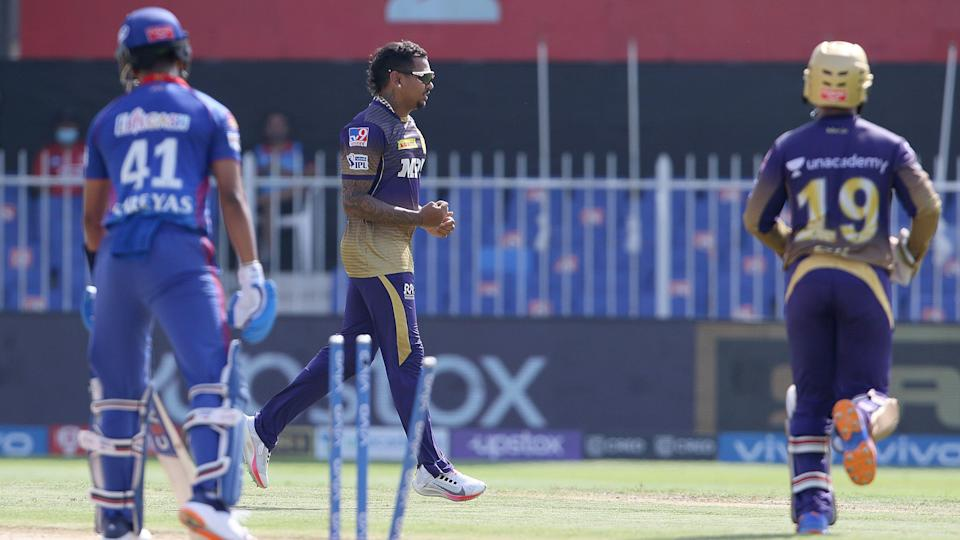 """<div class=""""paragraphs""""><p>Sunil Narine picked 2 wickets for KKR against DC</p></div>"""