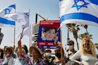 Protests were also held in Israel's city of Tel Aviv
