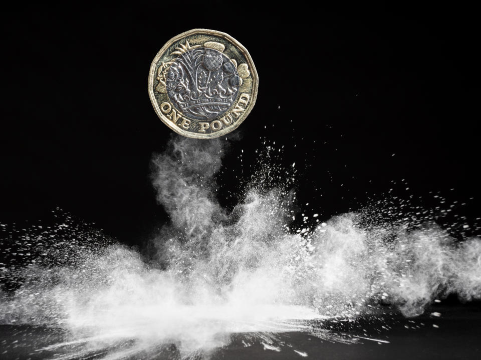 Pound was up against the dollar on Thursday morning. (Getty)