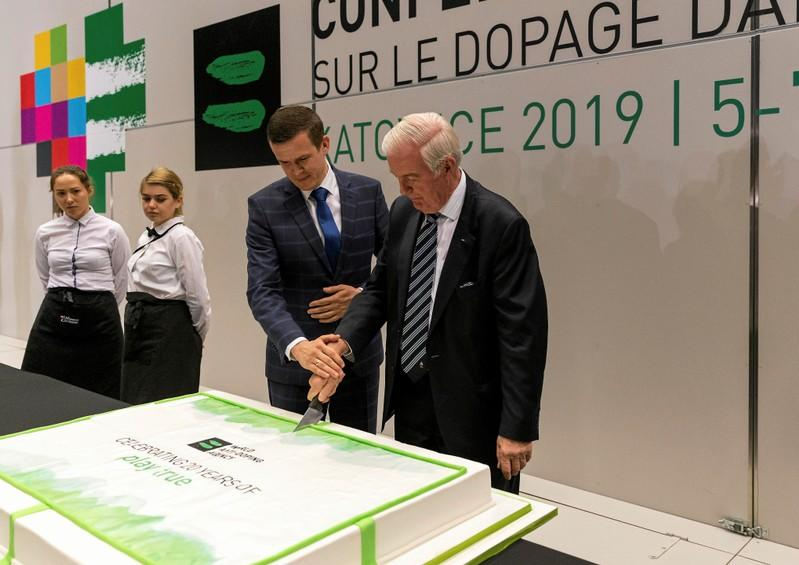 Craig Reedie and Witold Banka attend WADA World Conference on Doping in Sport in Katowice