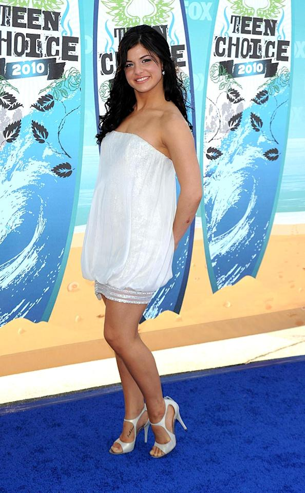 "<b>Courtney Galiano (Grade: A-)</b>  Our favorite ""So You Think You Can Dance"" All-Star showed off her fit and fab figure while shimmying down the blue carpet in an adorable bubble dress and sexy heels. Jason Merritt/<a href=""http://www.gettyimages.com/"" target=""new"">GettyImages.com</a> - August 8, 2010"