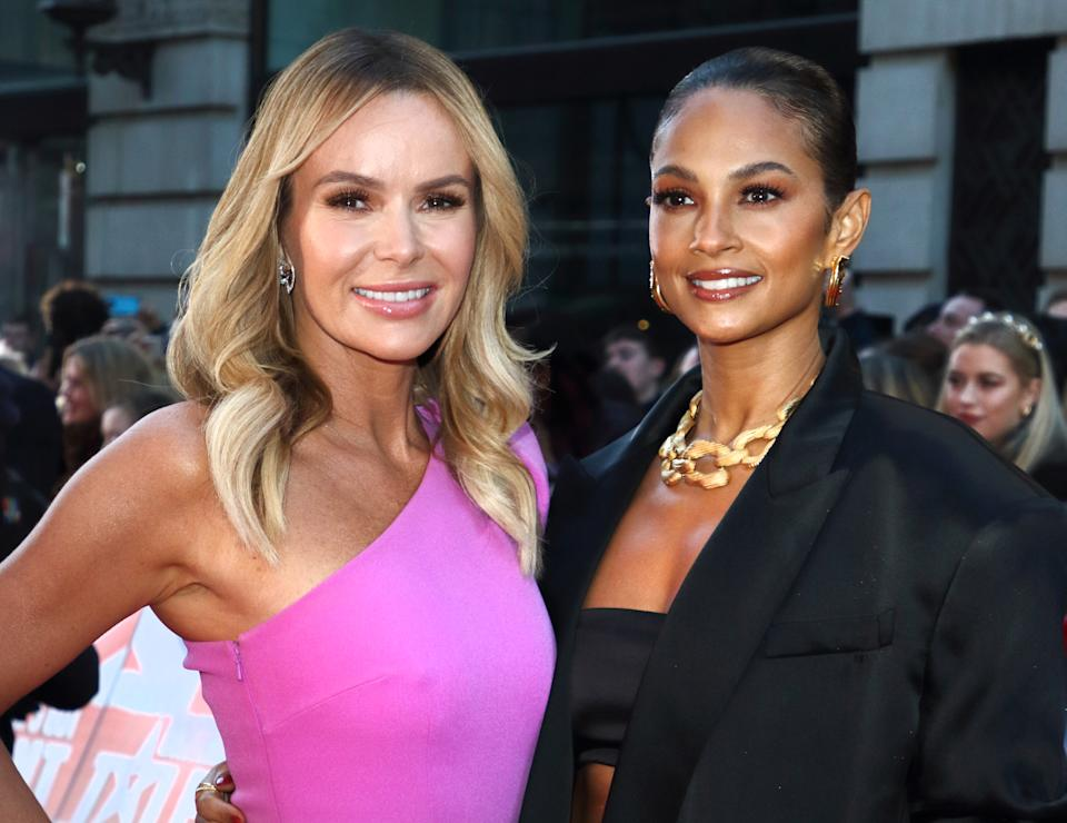 Amanda Holden and Alesha Dixon attend the Britain's Got Talent Auditions Photocall at the London Palladium. (Photo by Keith Mayhew / SOPA Images/Sipa USA)