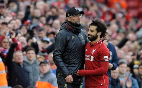 <span>Salah left the pitch to a standing ovation</span> <span>Credit: AP </span>