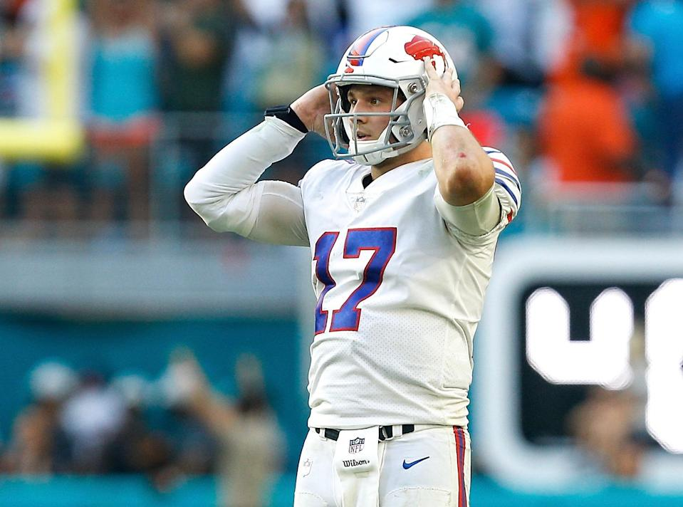 Josh Allen and Charles Clay came up just short of a miracle finish against the Dolphins on Sunday. (Getty)
