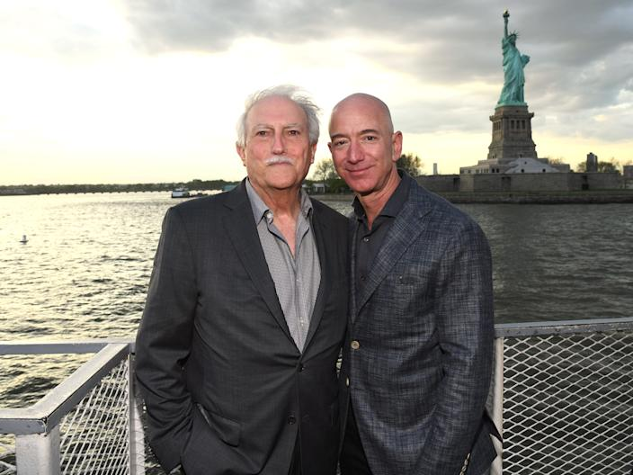 Jeff Bezos with his father, Miguel Bezos.