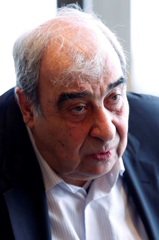 FILE PHOTO: Syrian opposition leader Michel Kilo speaks to Reuters in Montreux