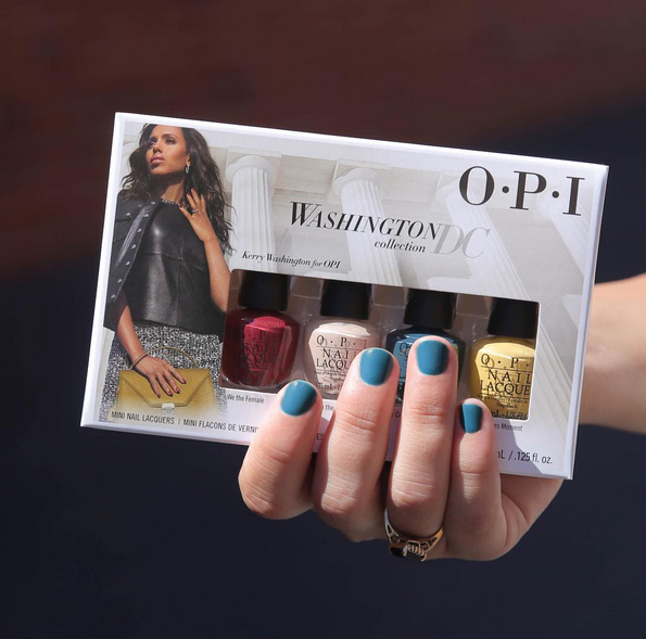 """<p>The nail colours created in collaboration with actress and creative ambassador for OPI, Kerry Washington, are the stuff of fall mani dreams. From """"Madam President,"""" a rich mauve to """"Never a Dulles Moment,"""" a warm curry yellow, we have our #nailgoals set for the next few months. <i>($12.50 at select salons)</i> </p>"""