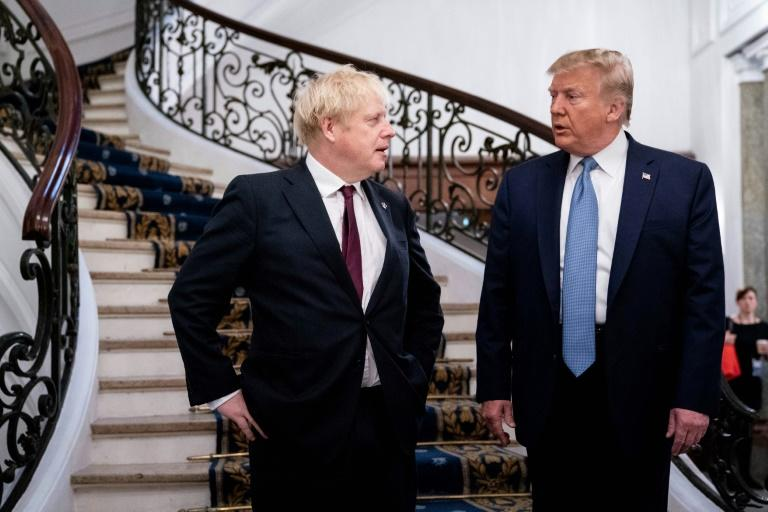 In the lead-up to the talks, PM Johnson had appeared at pains to distance himself from President Trump after facing accusations in the past of being too cosy with the US leader (AFP Photo/Erin Schaff)