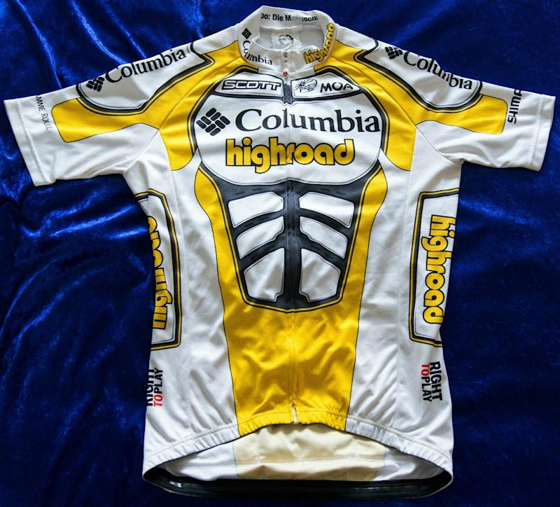 A 2009 team-issue Moa Columbia-Highroad jersey on eBay