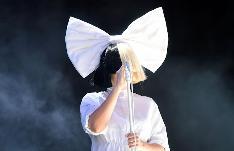 Sia performs on the Virgin Media Stage during the V Festival at Hylands Park in Chelmsford, Essex.