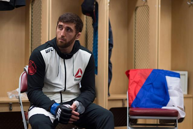 Ruslan Magomedov is the first UFC fighter to be issued a lifetime ban for repeated drug test violations. (Getty Images)