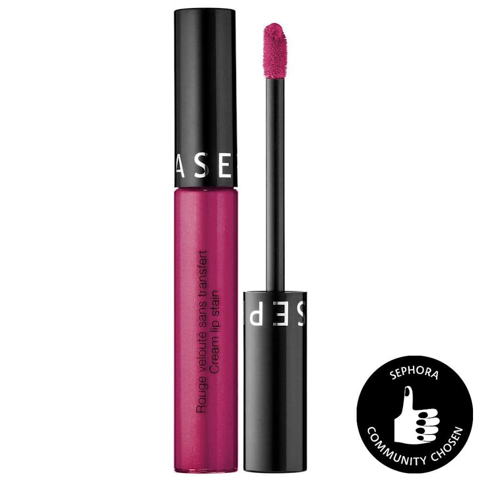 "<p><a href=""https://www.popsugar.com/beauty/Sephora-Cream-Lip-Stain-Review-43641273"" class=""link rapid-noclick-resp"" rel=""nofollow noopener"" target=""_blank"" data-ylk=""slk:POPSUGAR editors"">POPSUGAR editors</a> can't get enough of the <span>Sephora Collection Cream Lip Stain Liquid Lipstick</span> ($7, originally $13). The creamy and opaque lippies last through a night of cheeseburgers, drinking, and even makeout sessions while barely budging. They apply extrasilky to the lips and are available in 40 gorgeous shades. One just won't be enough. </p>"