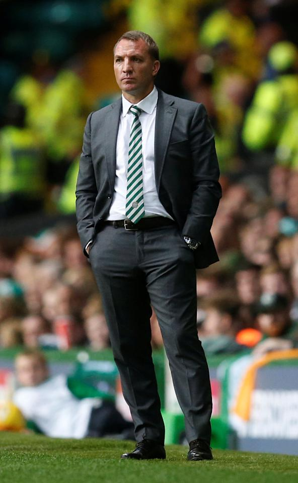 Soccer Football - Celtic vs Linfield - UEFA Champions League Second Qualifying Round Second Leg - Glasgow, Britain - July 19, 2017    Celtic manager Brendan Rodgers    REUTERS/Russell Cheyne