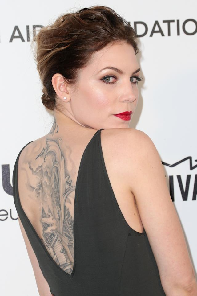 LOS ANGELES, CA - FEBRUARY 24:  Singer/songwriter Skylar Grey arrives at the 21st Annual Elton John AIDS Foundation's Oscar Viewing Party on February 24, 2013 in Los Angeles, California.  (Photo by Frederick M. Brown/Getty Images)
