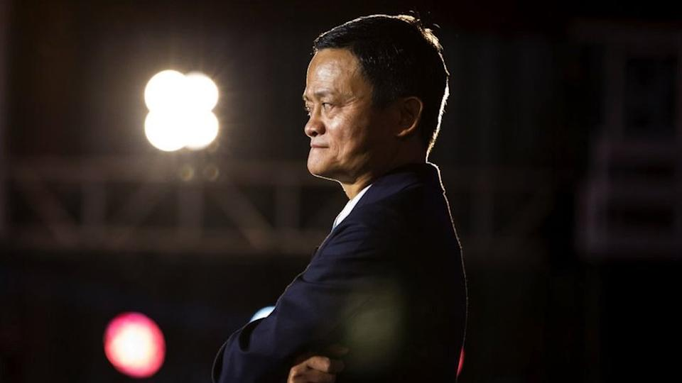 Jack Ma at a conference in Hangzhou in 2019