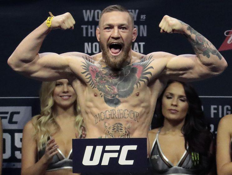 Conor McGregor is an elite MMA fighter, but how would he stand against an all-time great boxer in Floyd Mayweather? (AP)