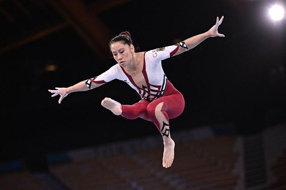 """<p>The German women's gymnastics team donned full-length bodysuits to compete. The outfits, different to the shorter leotards more commonly seen in the sport are part of a push to make women feel more comfortable to compete. </p><p>Three-time Olympian Elisabeth Seitz says the decision came to 'show that every woman, everybody, should decide what to wear,' going on to explain that it's 'about what feels comfortable.'</p><p>Earlier this year, German gymnasts competed in full-length bodysuits at the European championships with competitor Sarah Voss <a href=""""https://www.bbc.co.uk/sport/gymnastics/56906863"""" rel=""""nofollow noopener"""" target=""""_blank"""" data-ylk=""""slk:explaining"""" class=""""link rapid-noclick-resp"""">explaining</a> the choice as 'a great option for everyone to stay in the sport they love and don't think about anything else about their body – just about their performance.' </p>"""