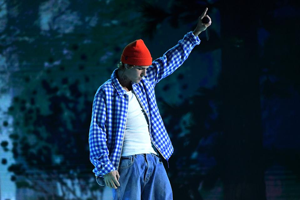 Justin Bieber took issue with his Grammy nominations for not categorizing his work as R&B. (Photo: Kevin Mazur/AMA2020/Getty Images)