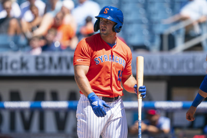 Tim Tebow is getting an invite to Mets' big-league spring training for the fourth straight year. (Gregory J. Fisher-USA TODAY Sports)