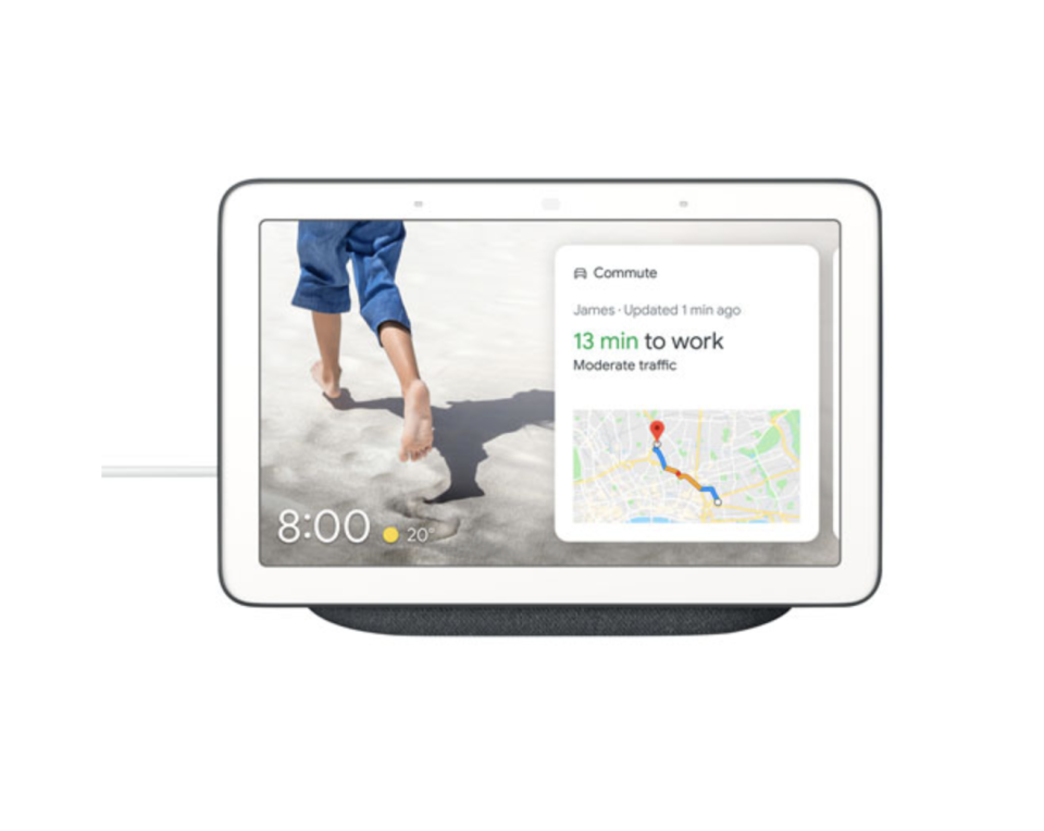 Google Nest Hub Smart Display with map on screen