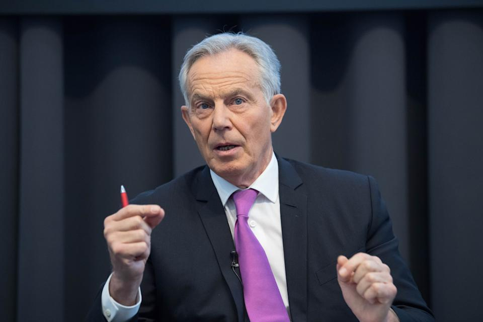 File photo dated 20/02/20 of Tony Blair. An Iraqi citizen has failed in a High Court bid to prosecute the former prime minister over radioactive ammunition used during the Iraq war.