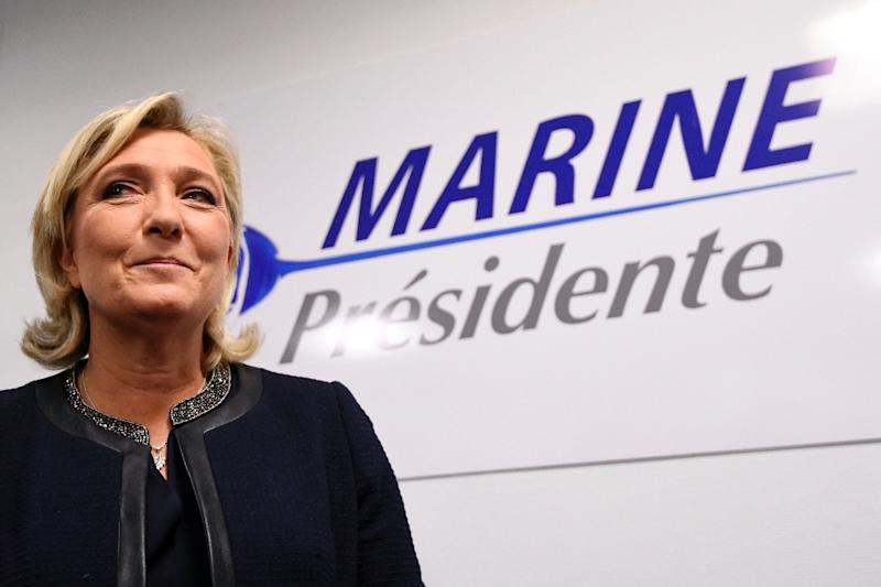 Marine Le Pen is predicted to win the second round of the French presidential election (AFP Photo/Alain Jocard)